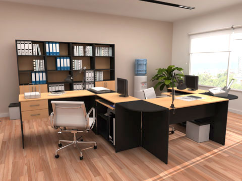 Ambientaciones sudamericana equipamientos for Amoblamientos de oficina